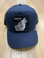NEW-MEN'S GOORIN WOLF ANIMAL HAT, #101-6099, NAVY, O/S, $29.75
