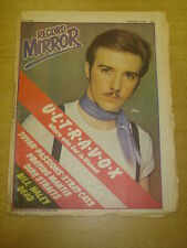 RECORD MIRROR 1981 FEB 14 ULTRAVOX TOYAH PASSIONS STRAY CATS DIRE STRAITS HALEY