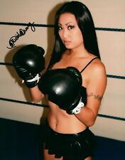 Nicole Oring Boxing Gloves On Signed 8x10 Photo Adult Model COA 64