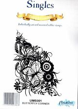 BUTTERFLY CORNER - Cling Mounted Rubber Stamp - Creative Expressions