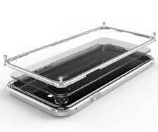 GINMIC Alu Bumper Rahmen Clear Hart Back Cover für iPhone Handy Hülle Schutzcase