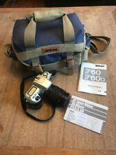 Nikon F60 Film Camera, 28-80mm lens and Nikon bag