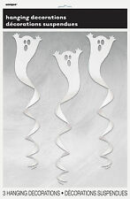 3 Halloween Ghost Party Swirl Spiraling Hanging Decorations FREE P&P