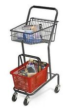 Mini 42 inch Retail Store Shopping Cart - Red Basket Included
