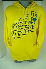 "New Mens XL DC Shoes ""YC Phipps PO-M"" Yellow Pull Over Jacket Hoody $60"