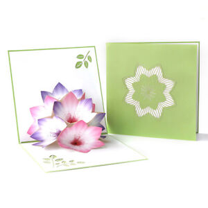 3D flowers greeting cards invitations sakura pop-up cards