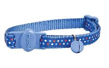 """PETMATE DOT MULTICOLOR SAFE CAT SAFETY 8""""-12"""" BREAKAWAY COLLAR FREE SHIP TO USA"""
