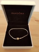 Genuine Pandora Bracelet with 14ct Gold Clasp - size 18 cm ALE