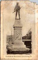 Confederate Monument Lynchburg VA Pub. J.P. Bell UDB Vintage Postcard DD1
