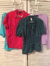 Tops Blouses Lot Of 4 Womens L and XL