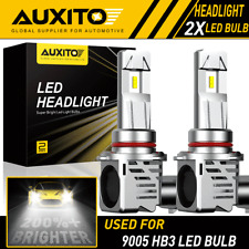 2X AUXITO 9005 LED Headlight High Beam Bulbs M3 for Subaru Forester 2006-2018