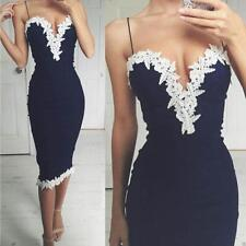 Fashion Women Summer Lace Dress Sleeveless Party Evening Cocktail Dress Y5