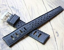 Soft rubber 20mm vintage dive watch perforated band waffle finish NOS 1960s/70s
