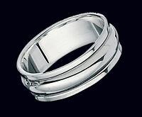 Wedding Ring Sterling Silver Spinner Wedding Band Rotating Wedding Ring
