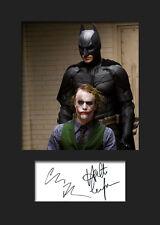 BATMAN & THE JOKER (HEATH LEDGER) #1 A5 Signed Mounted Photo Print - FREE DEL