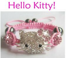 3 Hello Kitty BraceletS Shamballa Charm bracelet Blue Red Pink Jewelry USA