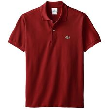 Lacoste L1212 Polo Shirt Classic Fit Red Cotton Mens US Size Large EU 6