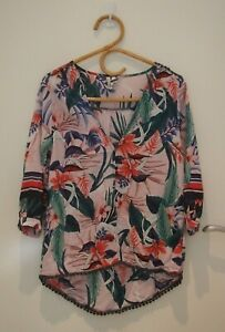 Jaase Pink Pattern Summer Top   ~Size Small~