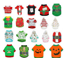 Halloween Pet Costumes Dog Cat Clothing Sweaters Shirts Small Pet Apparel