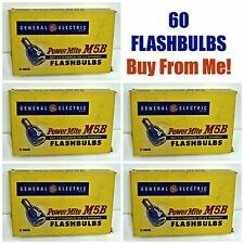 LOT of 60 Bulbs Vintage GE General Electric M5B POWERMITE FLASHBULBS! NeW! Mint!