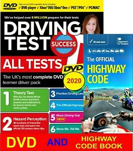 Driving Theory Test DVD & Highway Code Book - 2020 .MAC, PS3/4,XBOX  One / 360
