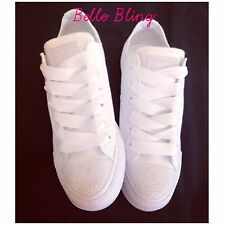 Wedding Converse Bridal Customised Crystals Made To Order Bling Bride All Sizes