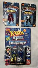 Toy Biz HEAVY METAL HEROES Steel Mutants Lot Figures MARVEL & X-MEN Die Cast Moc