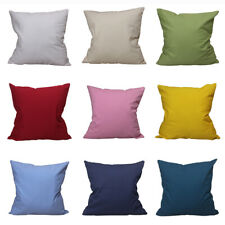 CURCYA Canvas Cushion Cover Thick Cotton Throw Pillow Covers Cases Solid Colors