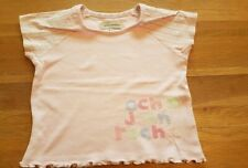 girls pink Rocha John Rocha t-shirt age 3-4 years flower &spot sleeves Debenhams