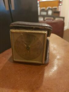 Vintage Mauthe Cased Travel Alarm Clock 1930s Germany Spares or Repair