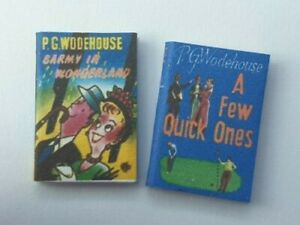 Dolls House 1/12, 6 PG Woodhouse Books (Non-Opening) Hand Crafted By Ken Blythe