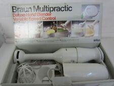 Vintage Braun Multipractic Deluxe Hand Blender Variable Speed Control - Working
