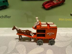MOKO LESNEY MATCHBOX #7A HORSE DRAWN FLOAT METAL WHEELS NEAR MINT NO BOX.