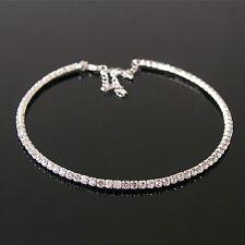 Bridesmaid Crystal Necklace, Silver Rhinstone Wedding Bridal Choker Jewelry