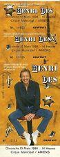 RARE / TICKET BILLET DE CONCERT - HENRI DES A AMIENS MARS 1996