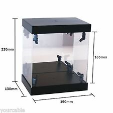 Acrylic Display Case Light Box for Swarovski Crystal Gouldian Finches Turtledove