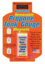Accu-Level Removable Magnetic Propane Tank Gauge - For Gas Grill BBQ RV Travel