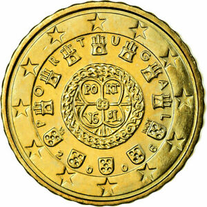 [#698496] Portugal, 10 Euro Cent, 2006, SPL, Laiton, KM:743