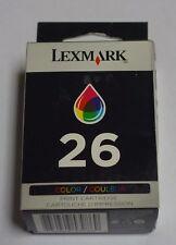 Lexmark 26 Color Ink Tri-Color Print Cartridge 10N0026 GENUINE NEW