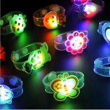 2pcs Toy Supplies Kids Bracelet Adjustable Wrist Watch 2016 Gift Flash Light Led