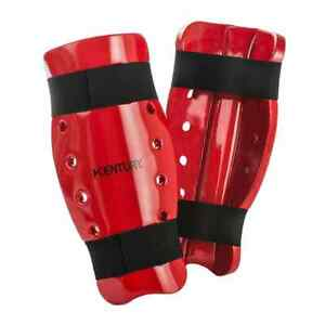 Century Martial Arts Sparring Shin Guards Pads Red Size Adult XL