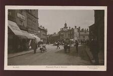 Warwickshire Warwicks RUGBY Market Place lovely street level scene 1912 RP PPC