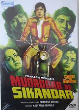 MUQADDAR KA SIKANDAR - BOLLYWOOD DVD - Amithabh Bachchan.