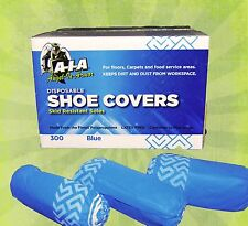 300 DISPOSABLE SHOE COVERS NON-SKID/ MEDICAL/ EXTRA LARGE TO SIZE 12 VALUE PRICE