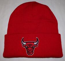 Chicago Bulls Red Winter Ski Hat Skull