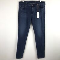 $210 AG Adriano Goldschmied The Legging Ankle Super Skinny Jeans Size 28 Blue