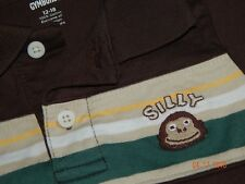 NWT Gymboree Boys 12-18 Months Silly Monkey Polo Short Jungle Theme Cute New