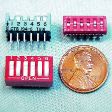 (6) 6-Section Dip Switch Assortment - 'Piano', Rocker, Slide, Ul & Mil-Std Rated