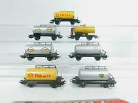 AZ341-1# 7x Märklin H0/AC Bastler-Kesselwagen/Güterwagen DB: Shell+Esso+BP