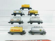 AZ341-1# 7x Märklin H0/AC hobbyist - tank wagons/freight wagon DB: Shell+Esso+BP